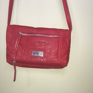Red Leather Kenneth Cole Reaction Crossbody Purse